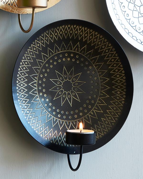 Ljuslampett svart