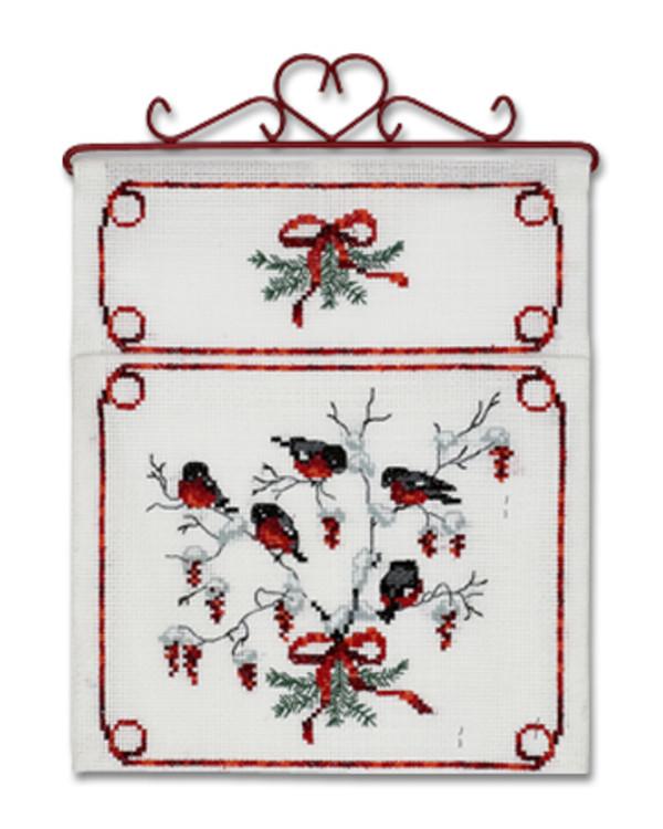Joulupostiteline Punatulkut