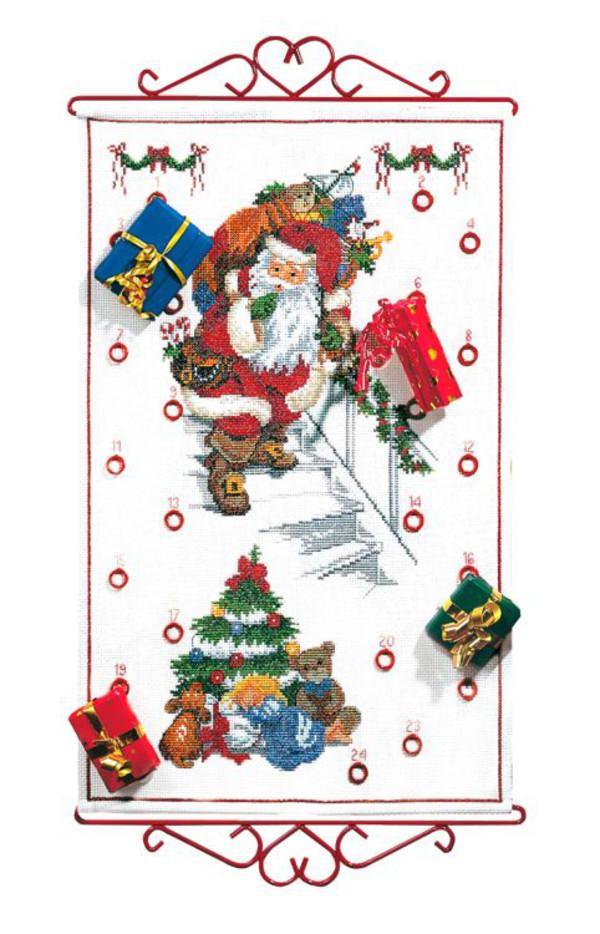 Stickpackung Kalender Schleichender Weihnachtsmann