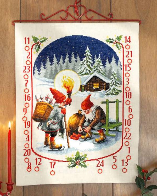 Broderikit Kalender Skridskoåkning