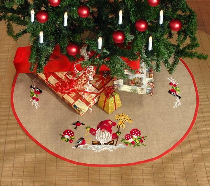Broderipakke Juletrematte Nisse og sopp