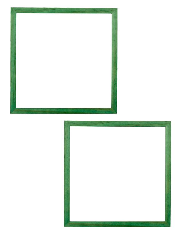 Ramme grønn 22x22 cm 2-pk